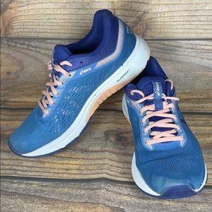 ASICS gt-1000 blue and peach